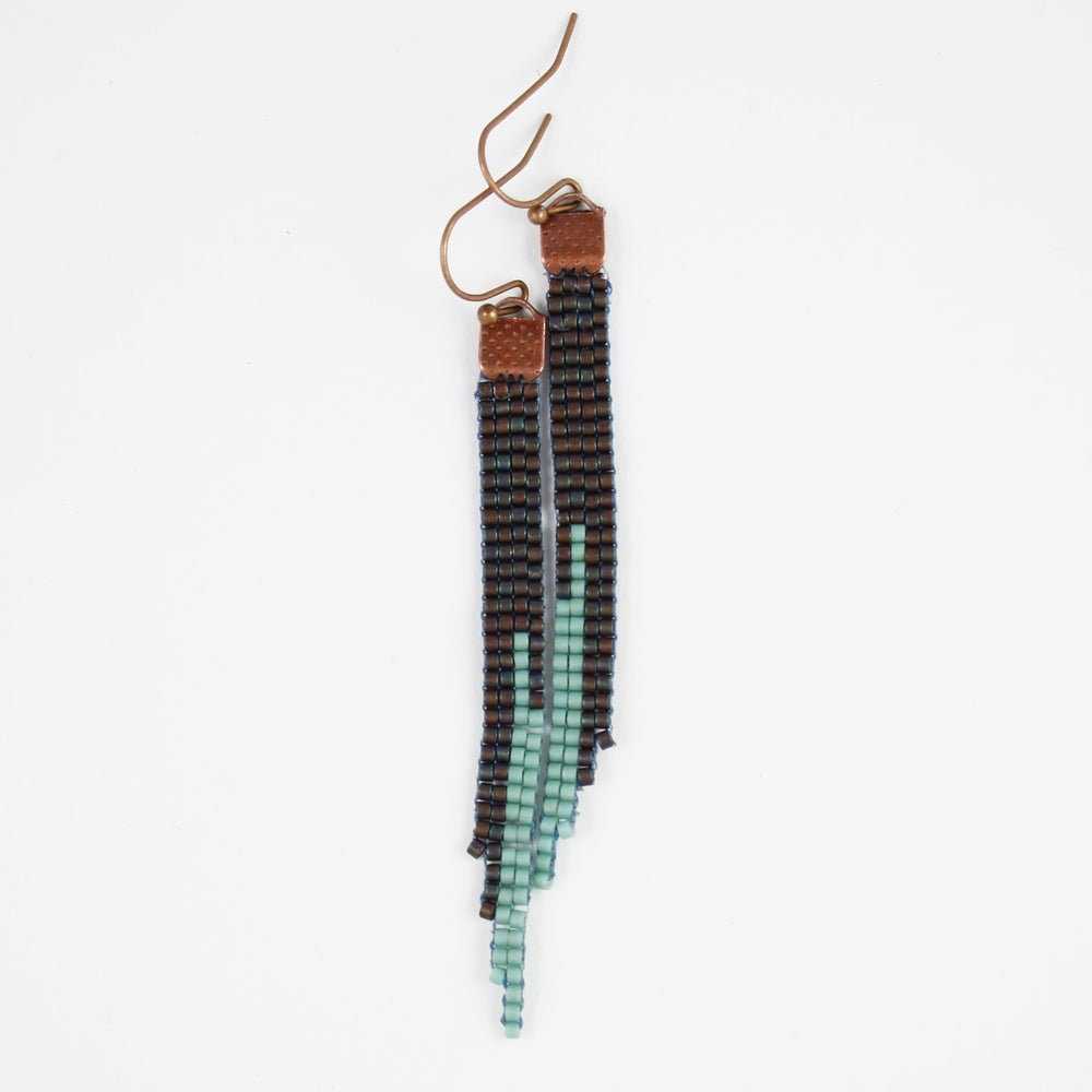 Image of Darkling // Loom-beaded Earrings