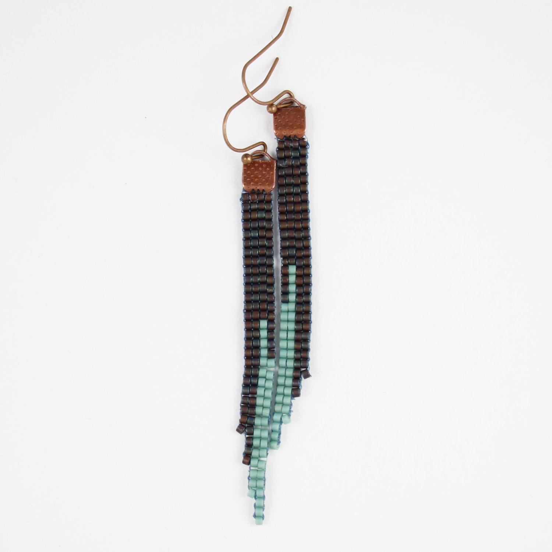 Image of Darkling // Loom-beaded Earrings