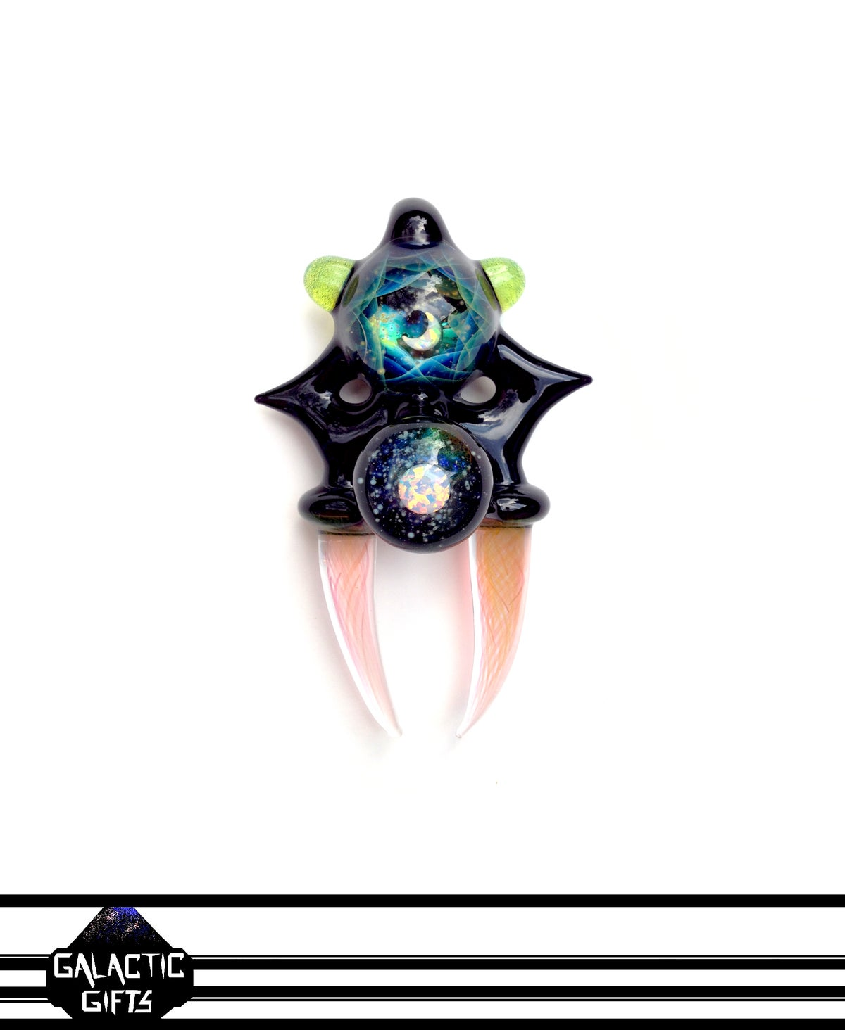 Image of Atsushi Sasaki & Big Z Opal Crescent Moon Space Key Coin Series Collab Banger Pendant