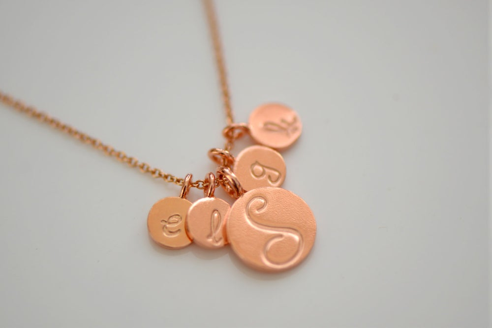 Image of Rose Gold Vermeil Initial Necklace - Personalize Necklace