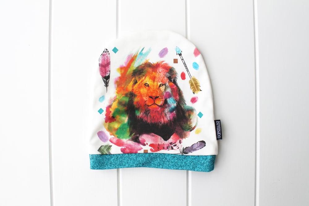 Image of Boho Lion ~ Slouchy Beanie
