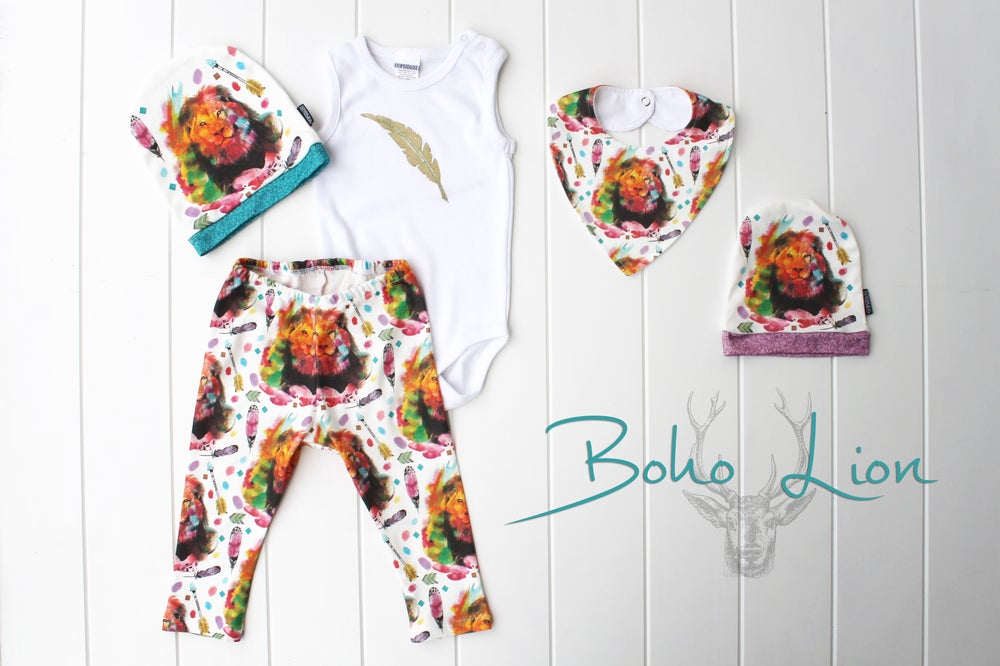 Image of Boho Lion ~ Bandana Bib