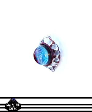 Image of Keisuke Yoshida Red Elvis Wrapped Fumacello Carved Droplet Pendant