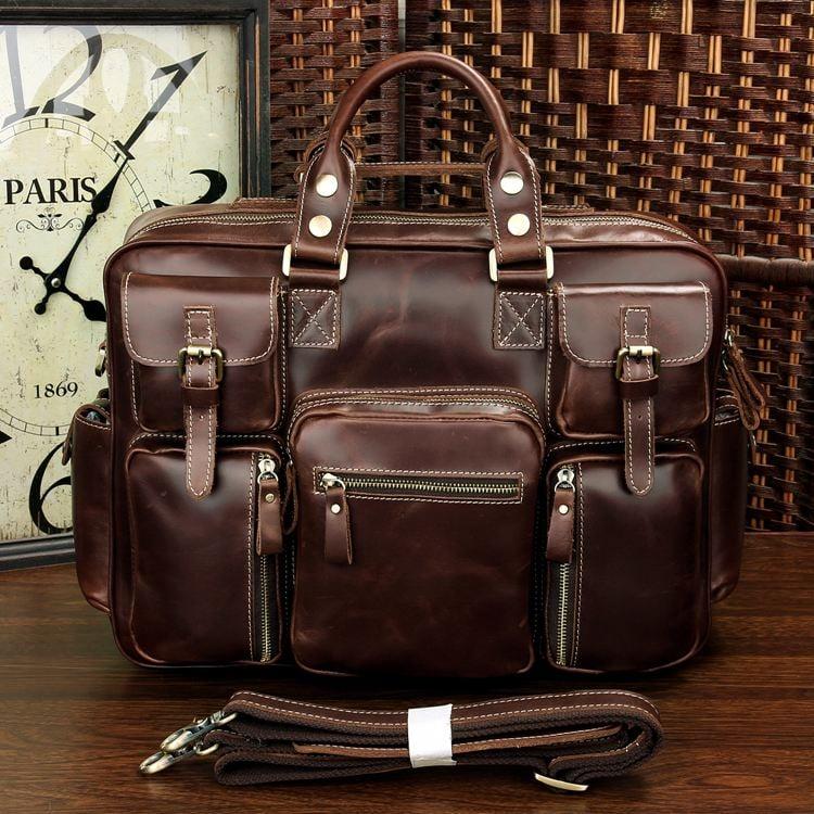 ... Image of Handmade Superior Leather Business Travel Bag   Tote    Messenger   Duffle Bag ... 5489e0ad8028a