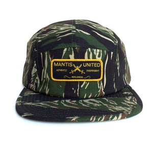 Image of 5 Panel authentic patch hat camo