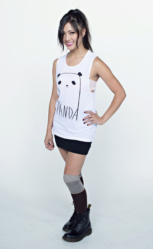 "Image of ""Ghost Panda"" Muscle Tank"