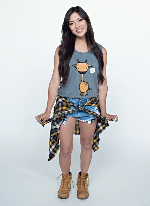 "Image of ""Marty the Giraffe"" Tank (Arctic Grey)"