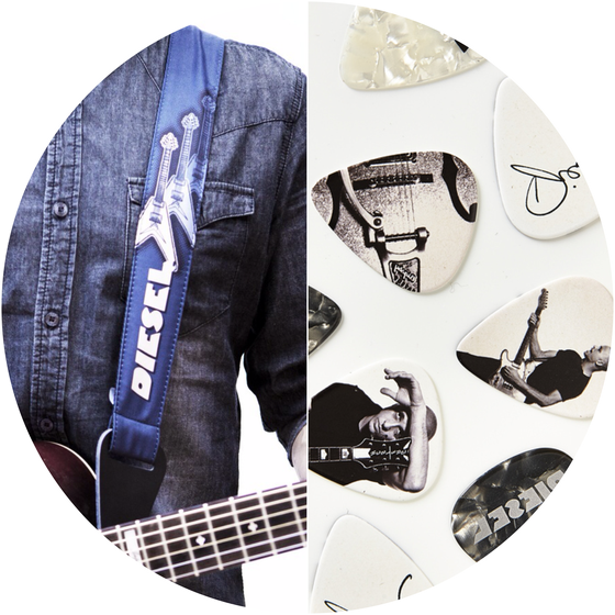 Image of BUNDLE | guitar strap + picks