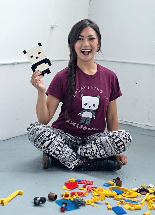 "Image of ""Lego Panda"" Unisex Tee"