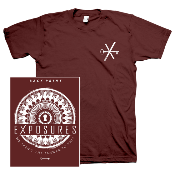 "Image of ""Transitions"" T-Shirt - Maroon"
