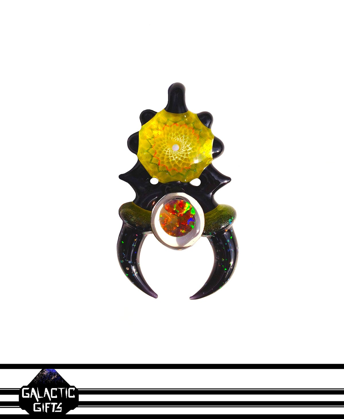 Image of Takao Miyake & Big Z Lemon Drop Opal Mandala Collab Coin Series Space Key Banger Pendant