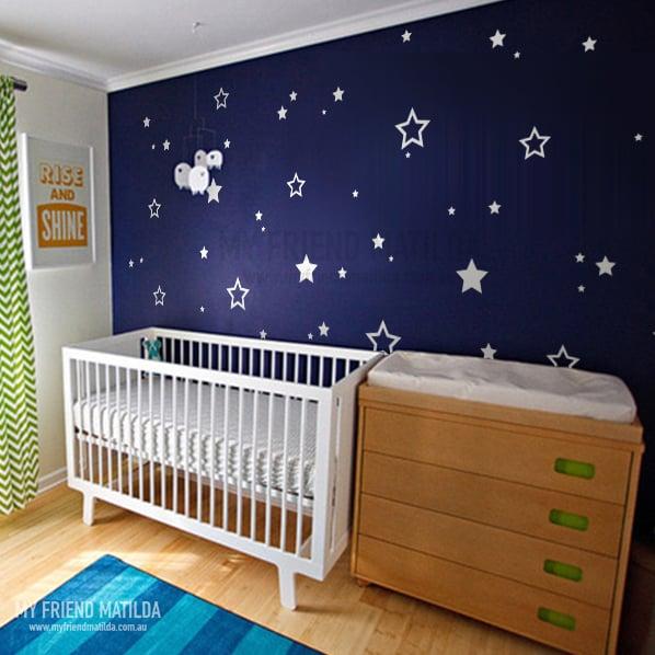 Stars Children Wall Stickers Decals Nursery Star