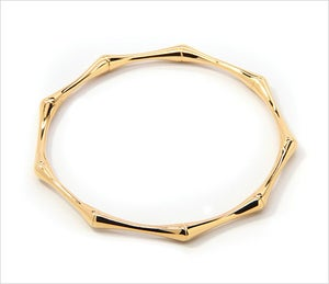Image of GOLD BAMBOO BANGLE