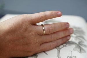 Image of 18ct gold 2.5mm faceted ring