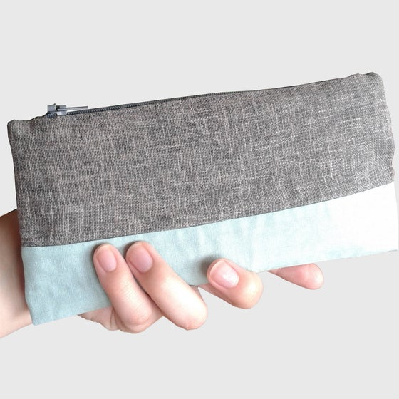 Image of Clutch mint y gris