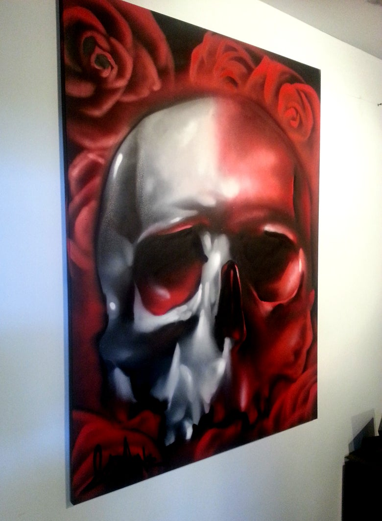 Image of ORIGINAL SKULL PAINTING 24 X 36