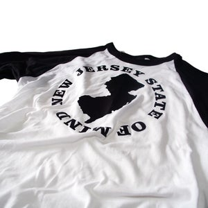 Image of NEW JERSEY STATE OF MIND BASEBALL TEE