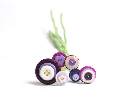 Image of Purple Button Stems (6)