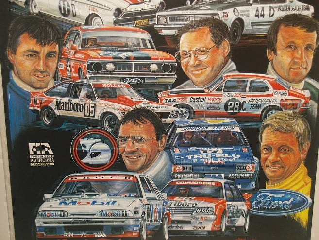 Image of Bathurst 1988 race poster.