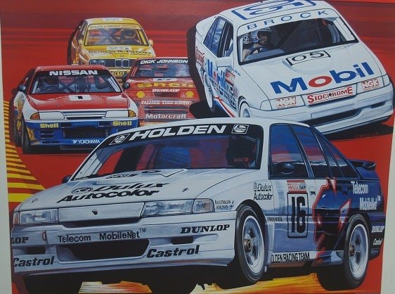 Image of 1991 Bathurst 1000 poster. Nissan wins.