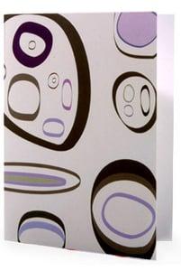 Image of 6 Pack Noteset in Purple Pebbles