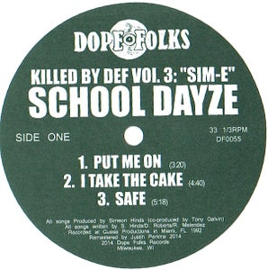 Image of KILLED BY DEF VOL.3: SIM-E (SCHOOL DAYZE/SIM CITY)