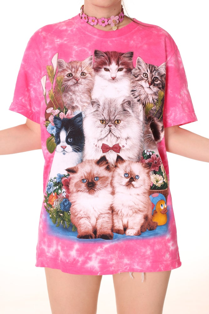 Image of Pink Kitten Tee