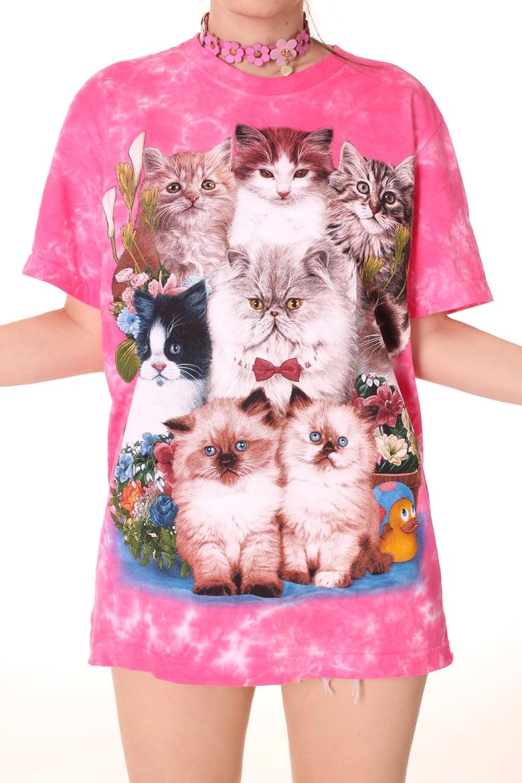 Image of Pink Kitten Tee