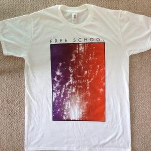 Image of Free School T-Shirt (Purple to orange)