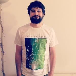 Image of Free School T-Shirt (Dark green to light green)