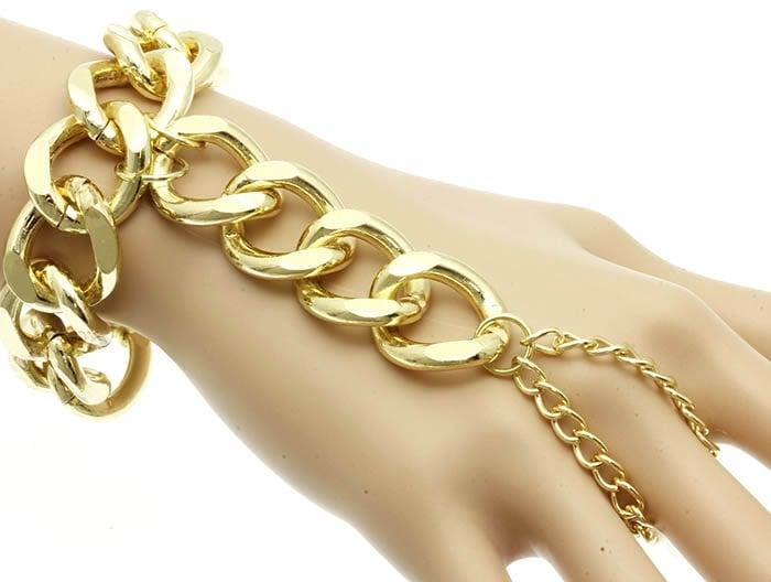 Image of Chunky Link Hand Bracelet