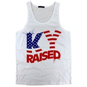 Image of KY Raised USA Tank Top in White / Red / Blue