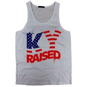 Image of KY Raised USA Tank Top in Grey / Red / Blue