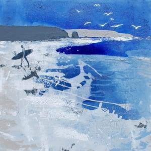 Image of Lone Surfer, Treyarnon Bay, Cornwall