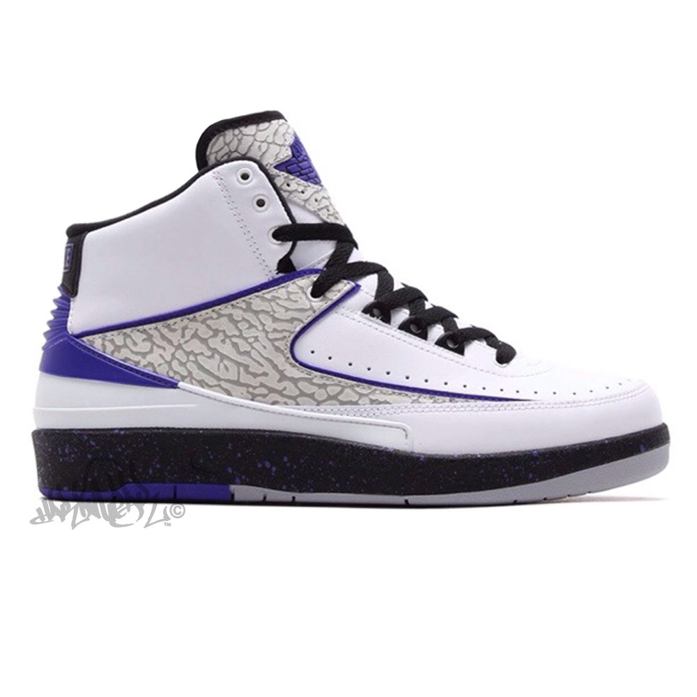 Image of AIR JORDAN 2 - DARK CONCORD - 385475 135