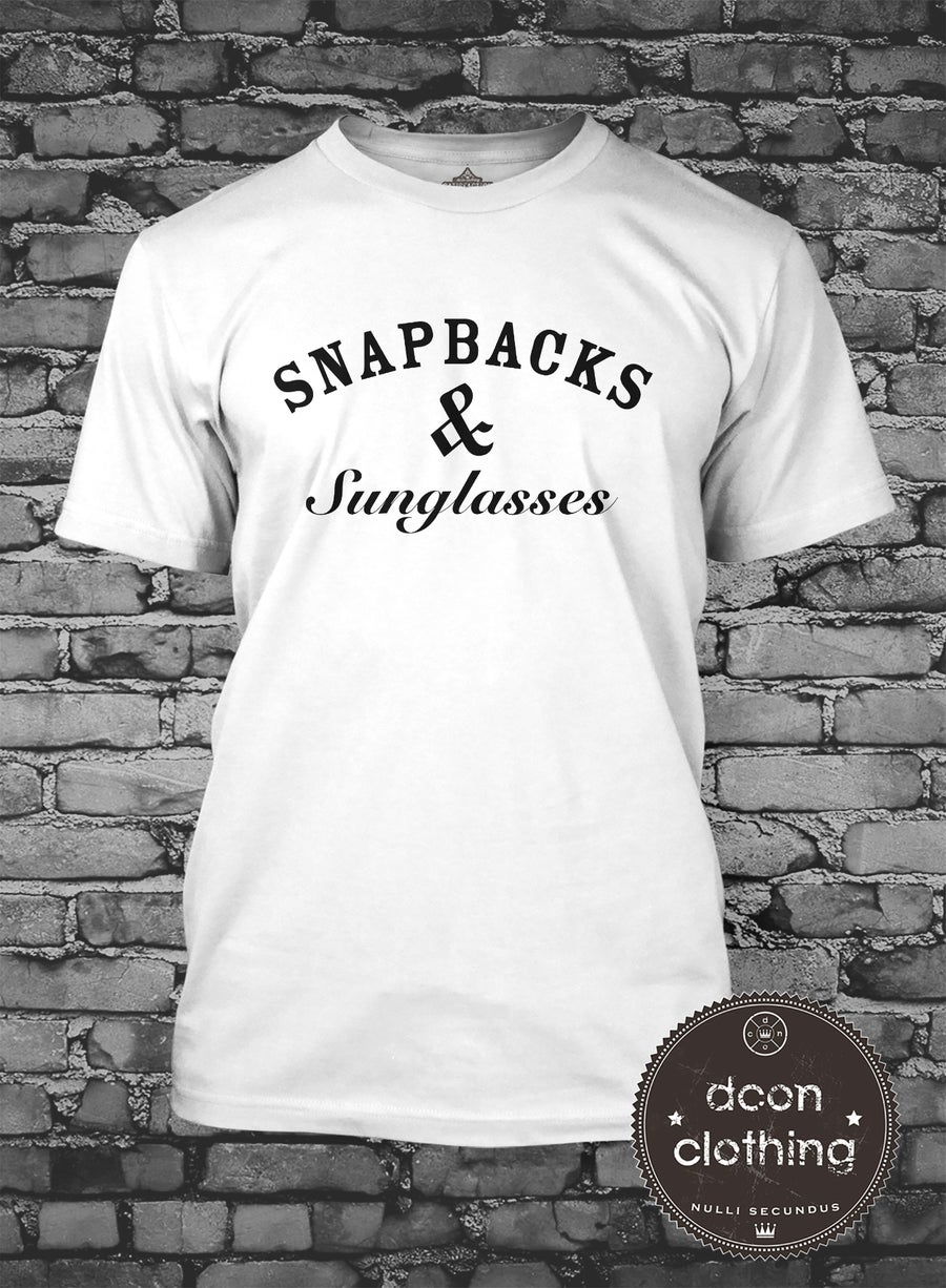 Image of SNAPBACKS & SUNGLASSES T SHIRT
