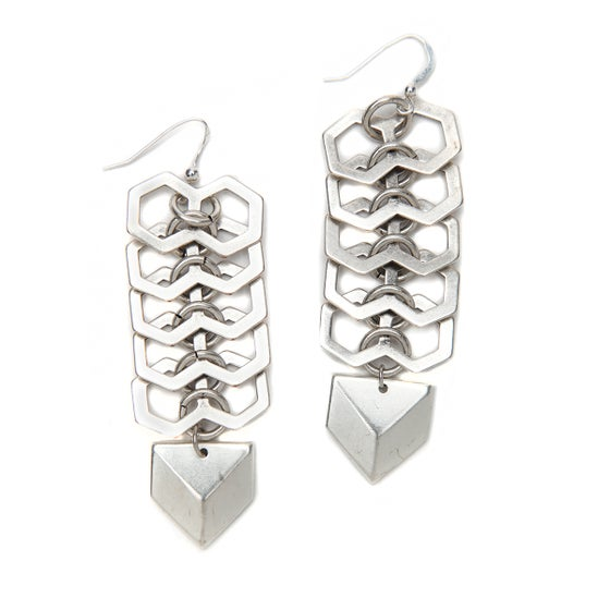 Image of Geometric Fishbone Earring