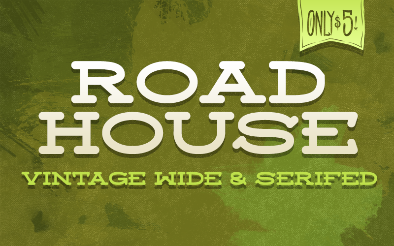 """Image of """"Roadhouse"""" Font"""