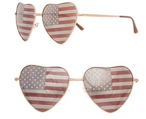 Image of Ladies heart flag sunglasses
