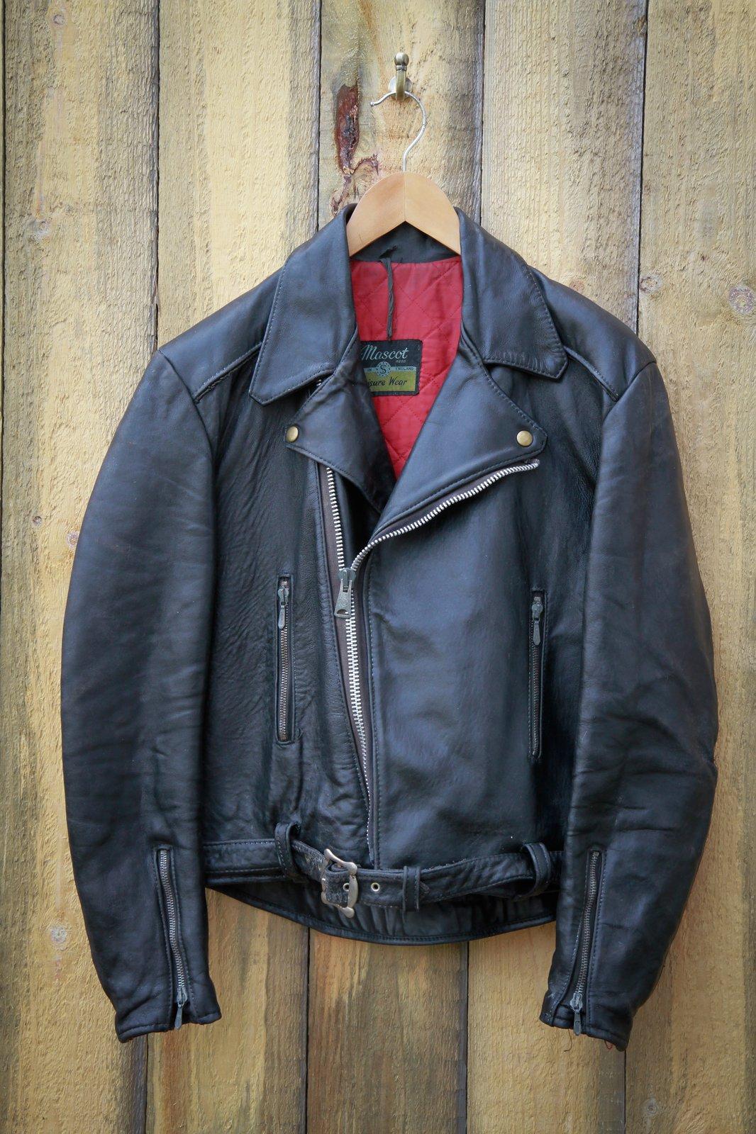 Mascot leather jacket