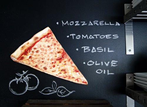 Image of Classic Plain Pizza Slice wood plaque