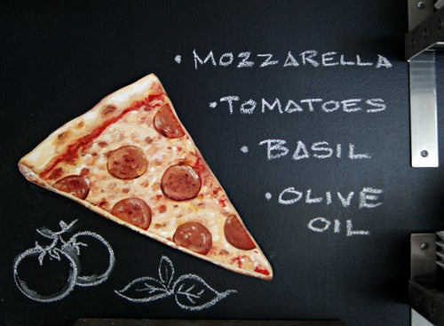 Image of Classic Pepperoni Pizza Slice Wood Diecut plaque