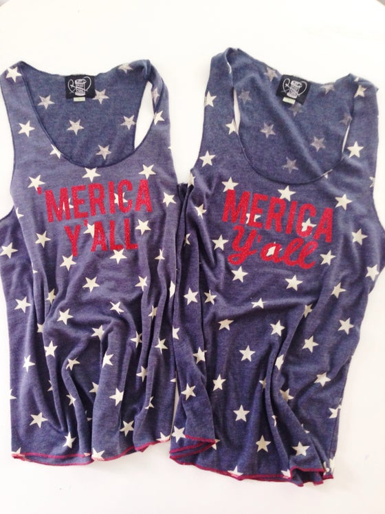 Image of 'Merica Y'all Tank Top PRINT
