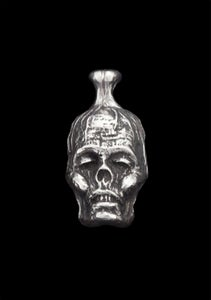 """Image of Small Sterling Silver """"Zombiehead"""" Pendant"""