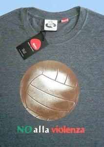 Image of Big Ball No Alla Violenza Charcoal T