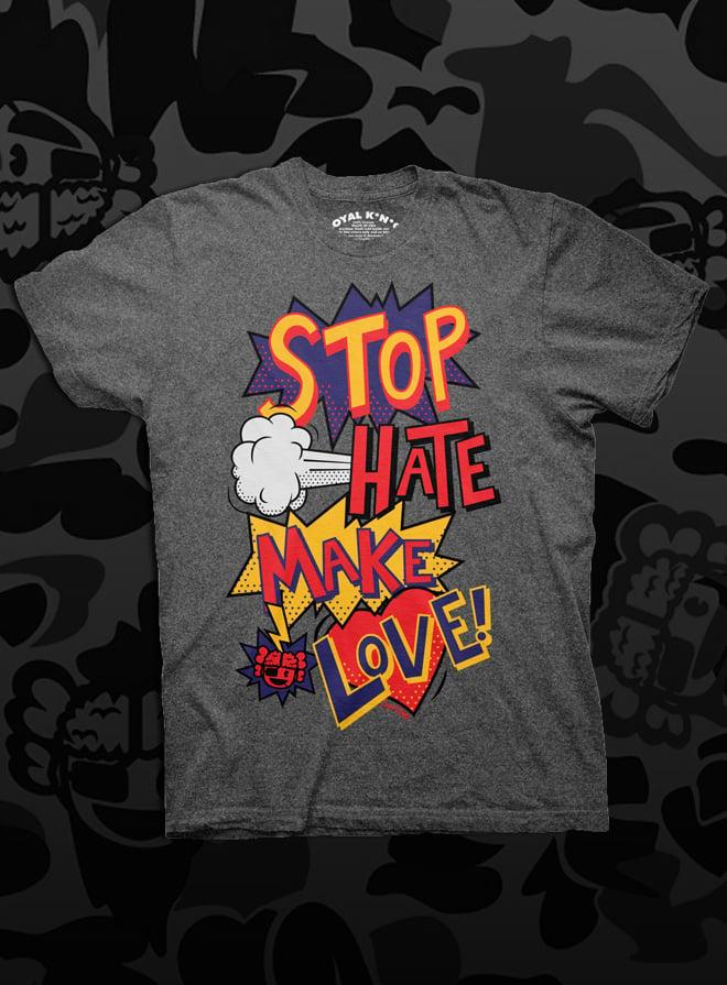 Image of Stop Hate, Make Love POW (Black)