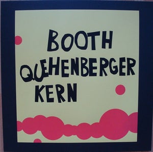 "Image of BOOTH|QUEHENBERGER|KERN ""Who's That?"" 12"" / ON SALE"