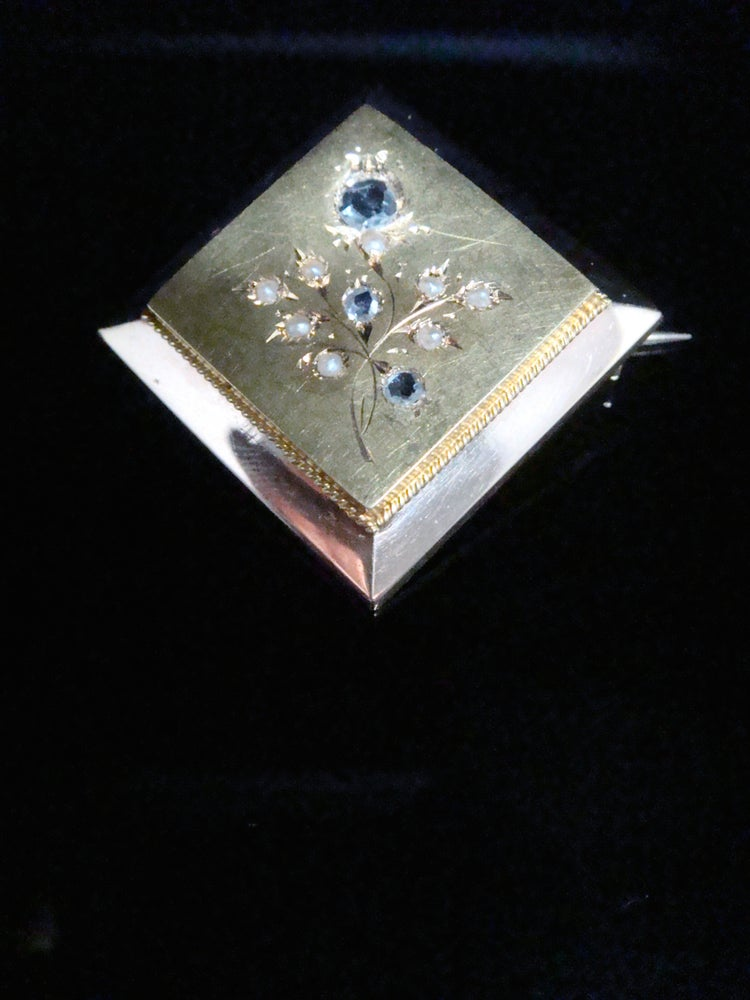 Image of 18CT EDWARDIAN FRENCH ORNATE ROSE CUT DIAMOND BROOCH