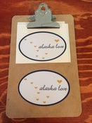 Image of Alaska Love Oval Sticker- White/Navy/Gold