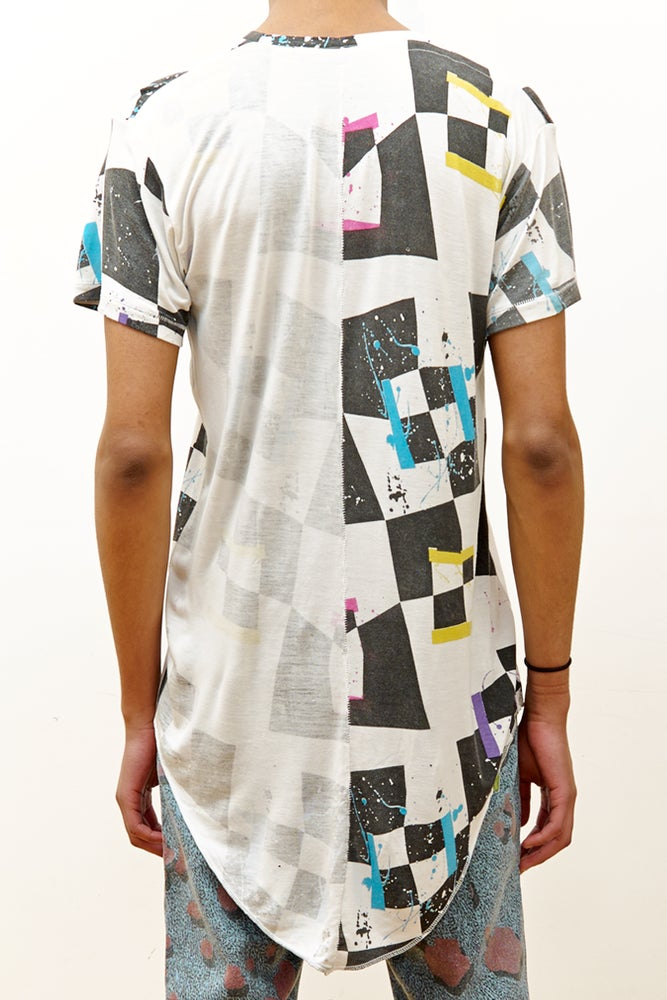 Image of Long Fit T-Shirt with 'Rama' Print